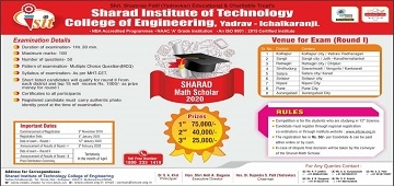 Sharad Maths Scholar 2020 Shortlisted Students List for Second Round